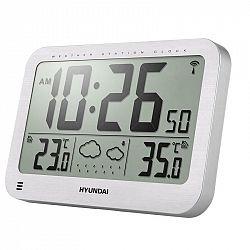 Meteorologická stanica Hyundai WS 2331 strieborn... Meteorologická stanica, predpoveď počasia, vnútorná a vonkajšia teplota, čas riadený rádiovým sign