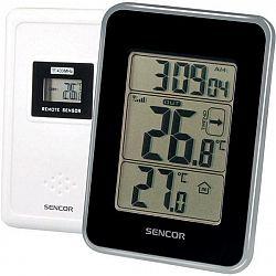 Meteorologická stanica Sencor SWS 25 BS čierna/strieborn... Teploměr s bezdrátovým senzorem měření teploty, zobrazení času, trend vývoje venkovní tepl