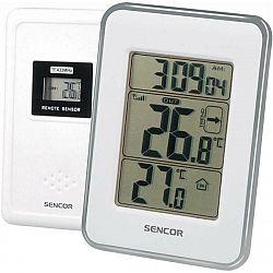Meteorologická stanica Sencor SWS 25 WS strieborná/biela... Teploměr s bezdrátovým senzorem měření teploty, zobrazení času, trend vývoje venkovní tepl