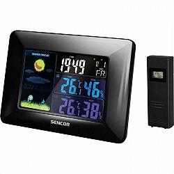 Meteorologická stanica Sencor SWS 4250 čierny... Meteostanice s budíkem, ikona předpovědi počasí, měří teplotu, vlhkost, datum a den v týdnu, barevný