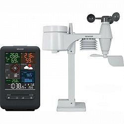Meteorologická stanica Sencor SWS 9300 čierna... Profesionální meteorologická stanice, bezdrátový snímač 5v1 - rychlost větru, směr větru, dešťové srá