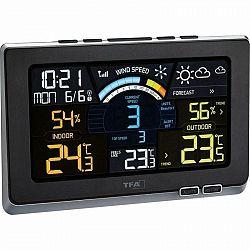 Meteorologická stanica TFA 35.1140.01, Spring Breeze... Meteostanice, měří: teplotu, vlhkost, rychlost větru, předpověď počasí se symboly, pocitová te