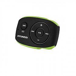 MP3 prehrávač Hyundai MP 312 GB4 BG čierny/zelen... Prenosný MP3 prehrávač, interná pamäť 4 GB, MP3, WMA, prednastavené ekvalizéry