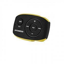 MP3 prehrávač Hyundai MP 312 GB4 BY čierny/žlt... Prenosný MP3 prehrávač, interná pamäť 4 GB, MP3, WMA, prednastavené ekvalizéry