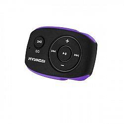 MP3 prehrávač Hyundai MP 312 GB8 BP čierny/fialov... Prenosný MP3 prehrávač, interná pamäť 8 GB, MP3, WMA, prednastavené ekvalizéry