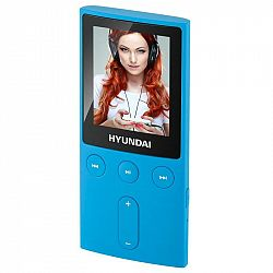 """MP3 prehrávač Hyundai MPC 501 GB4 FM BL modr... Prenosný MP3/MP4 prehrávač, 1,8"""" LCD displej, pamäť 4 GB, JPG, MP3, WMA, AMV, FM tuner, Micro SD karty"""