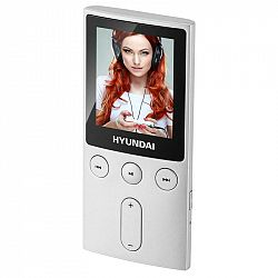 """MP3 prehrávač Hyundai MPC 501 GB8 FM S strieborn... Prenosný MP3/MP4 prehrávač, 1,8"""" LCD displej, pamäť 8 GB, JPG, MP3, WMA, AMV, FM tuner, Micro SD k"""