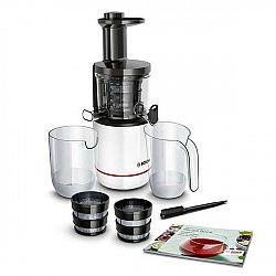 Odšťavňovač Bosch Mesm500w... Příkon 150 W, odolný tritanový šnek, 2 filtry, tichý provoz, zpětný chod, DripStop, nádoba na šťávu 1 l, nádoba na dužin