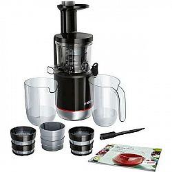 Odšťavovač Bosch Mesm731m čierny... Příkon 150 W, MixControl - nastavení hustoty nápoje, odolný tritanový šnek, 3 filtry, tichý provoz, zpětný chod, D
