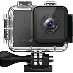Outdoorová kamera Apeman A100 Trawo čierna... Outdoorová kamera 4K (3840x2160)/30 fps, 20 Mpx foto, voděodolnost do 40 m (s pouzdrem), úhel záběru 170