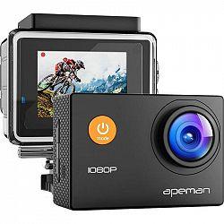 Outdoorová kamera Apeman A66 čierna... Outdoorová kamera Full HD (1920x1080), 12 Mpx foto, voděodolnost do 30 m (s pouzdrem), úhel záběru 170°, ochran