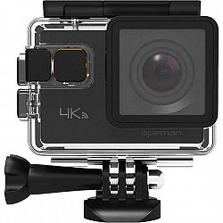 Outdoorová kamera Apeman A80 čierna... Outdoorová kamera 4K (3840x2160)/24 fps, 20 Mpx foto, voděodolnost do 40 m (s pouzdrem), úhel záběru 170°, stab