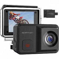 Outdoorová kamera Apeman A85 čierna... Outdoorová kamera 4K (3840x2160)/24 fps, 16 Mpx foto, voděodolnost do 30 m, vestavěný stabilizátor Mirco Gimbal