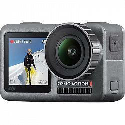 Outdoorová kamera DJI Osmo Action sivá (DJI0630... Outdoorová kamera 4K (3840x2160)/60 fps, 12 Mpx foto, voděodolnost do 11 m, úhel záběru 145°, špičk