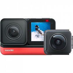 Outdoorová kamera Insta360 ONE R (Twin Edition) čierna/červen... Outdoorová kamera 5.7K (5760x2880)/30 fps, 19 Mpx foto, voděodolnost do 5 m, úhel záb