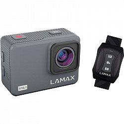 Outdoorová kamera Lamax X10.1 siv... Outdoorová kamera 4K (3840x2160)/30 fps, 12 Mpx foto, voděodolnost do 40 m (s pouzdrem), úhel záběru 170°, gyro a