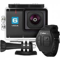Outdoorová kamera Niceboy 6 + diaľkové ovládanie čierna... Outdoorová kamera 4K (3840x2160)/30 fps, 12 Mpx foto, voděodolnost do 30 m (s pouzdrem), úh