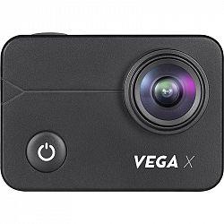 Outdoorová kamera Niceboy Vega X... Outdoorová kamera 4K (3840x2160)/30 fps, 12 Mpx foto, voděodolnost do 30 m s pouzdrem, úhel záběru 170°, dotykový