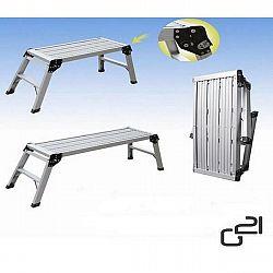 Pracovná plošina G21 Work Station 0,42 x 1,23 m skládac... Skládací plošina G21 Work Station 0,42 x 1,23 m s max. zatížením 115 kg má speciální systém