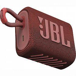 Prenosný reproduktor JBL GO3 červen... Přenosný reproduktor, výkon 4,2 W, hudba přes Bluetooth, zvuk Pro Sound, odolnost IP67 proti vodě a prachu, výd