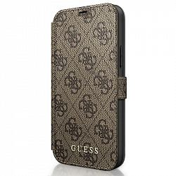 Púzdro na mobil flipové Guess 4G Book na Apple iPhone 12 mini hnedé...
