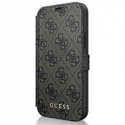 Púzdro na mobil flipové Guess 4G Book na Apple iPhone 12 mini sivé...