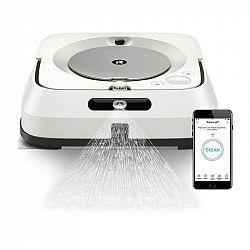 Robotický mop iRobot Braava jet m6 biely... Úklid všech typů tvrdých podlah, 2 režimy úklidu: mokrý a suchý, funkce Precision Jet Spray, úklid až 92 m