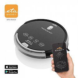 Robotický vysávač ETA Aron 2512 90000 čierny... Robotický vysávač 2 v 1 so smart aplikáciou, gyroskopickou navigáciou, výdržou až 120 minút a výškou i