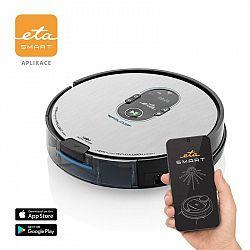 Robotický vysávač ETA Falco Smart 251590000 strieborn... Robotický vysávač 2 v 1 so smart aplikáciou, funkciou mopovania, špeciálnou rotačnou kefou, p
