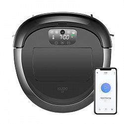 Robotický vysávač iClebo O5 YCR-M07-20W čierny/siv... Širokoúhlá kamerová navigace, Wi-Fi připojení, týdenní plánovač úklidu, patentovaný hlavní kartá