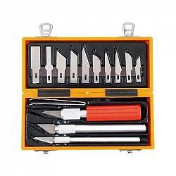 Sada Extol Craft vyřezávacích nožů, 91350... Sada 3 ks nožů s výměnnými hlavicemi nožů a pinzetou. Dodávána v plastovém pouzdře.