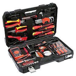 Sada náradia Yato 68 ks kufřík... Profesionální sada 68 speciálně vybraných nástrojů a nářadí pro elektrikáře. Kleště a šroubováky jsou izolovány až d