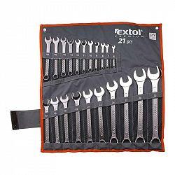 Sada očkoplochých kľúčov Extol Premium 6335... Sada 21ks očkoplochých klíčů 6-32mm je vyroben z kvalitní chrom-vanadiové oceli. Dodávána v textilní br