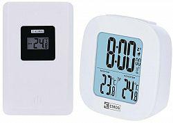 Teplomer Emos E0127 biely (2603121000... Teploměr bezdrátový, LED podsvícení displeje, budík, hodiny, datum, napájení stanice: 2×1,5V AAA/napájení čid