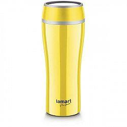 Termoska  Lamart Flac 0,4 l (LT4027) žlt... Kvalitní nerezový termohrnek v elegantním barevném designu o objemu 0,4 l a s vložkou proti nechtěnému roz