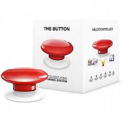 Tlacitko Fibaro Button, Z-Wave Plus červené (FIB-Fgpb-103-ZW5...