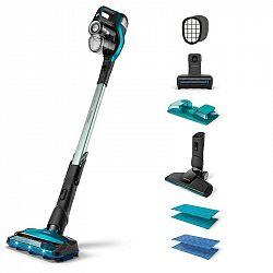Tyčový vysávač Philips FC6904/01 SpeedPro Max Aqua modr... Pro mokré i suché podlahy, vhodný pro všechny podlahy, až 75 minutový provoz.