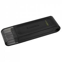 USB flash disk Kingston DataTraveler 70 32GB, USB-C čierny...