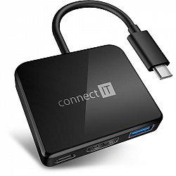 USB Hub Connect IT USB-C/USB-C, Hdmi, USB 3.0 čierny (CHU-7050-BK...