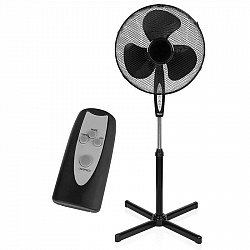 Ventilátor stojanový Tristar VE-5899 čierny... Průměr 40 cm, nastavitelná výška 105 - 125 cm, dálkové ovládání, časovač.