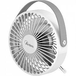 Ventilátor stolový Ardes 5F03 strieborn... Mini stolní ventilátor, průměr 14 cm, USB napájení kabelem.