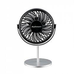 Ventilátor stolový Rohnson R-809 čierny/strieborn... Přenosný, skladný, tichý, úsporný, 2 rychlosti,