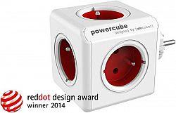 Zásuvka Powercube Original 5x zásuvka biela/červen... Rozbočovací zásuvka ve tvaru kostky, 5 zásuvek