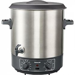 Zavárací hrniec Sencor SPP 2200SS... Zavařování a sterilizace ovoce a zeleniny, vhodný pro přípravu horkých nápojů, objem 27 l.